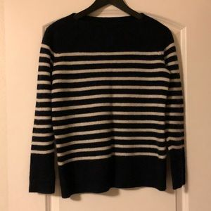 Vince Barney's New York strip cashmere sweater